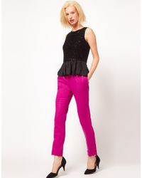 ASOS Collection Asos Super Soft Trousers with Pleat Front - Lyst