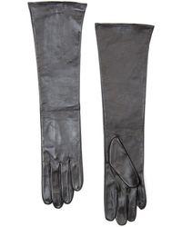 Mango - Long Leather Gloves - Lyst