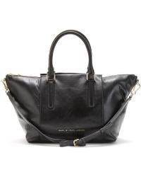 Marc By Marc Jacobs Large Paneled Leather Satchel - Lyst
