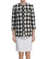 MSGM Woolen Pied De Poule Jacket - Lyst