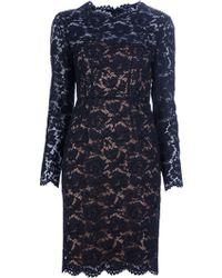 Valentino Lace Dress blue - Lyst