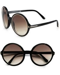 Tom Ford Carrie Round Plastic Sunglasses - Lyst