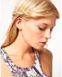 Asos Pack Of Two Running Man Ear Cuff multicolor - Lyst