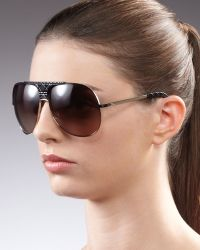 Dior Cannage Detailed Aviator Sunglasses Black - Lyst