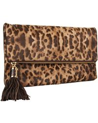 Michael Kors Tonne Large Foldover Clutch with Tassel - Lyst