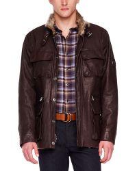 Michael Kors Furlined Leather Utility Jacket - Lyst