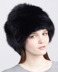 Rachel Zoe - Fox Fur Hat Black - Lyst