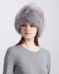 Rachel Zoe - Fox Fur Hat Gray - Lyst