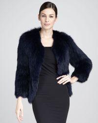 Tasha Tarno Knitted Fox Fur Jacket - Lyst