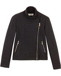 Toast - Toast Knitted Biker Jacket Black - Lyst