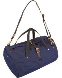 Barneys New York - Duffle Wax Twill Travel Bag - Lyst