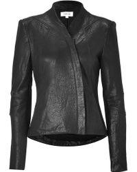 Helmut Lang Black Leather Jacket black - Lyst