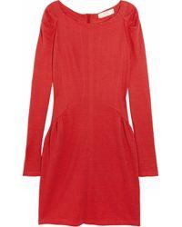 Vanessa Bruno Athé Linen Jersey Dress red - Lyst