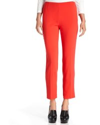 Calvin Klein Straight Leg Cropped Crepe - Lyst