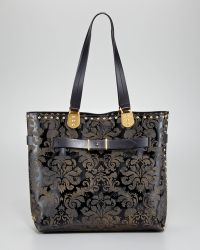 Christian Louboutin Sybil Studded Patent Arabesque Tote - Lyst