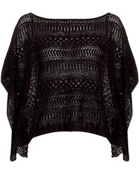 Denim & Supply Ralph Lauren - Pointelle Poncho - Lyst