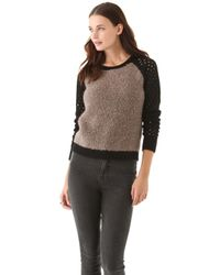 Graham & Spencer - Boucle Colorblock Sweater - Lyst