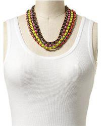 CC SKYE Neon Multi Chain Necklace multicolor - Lyst