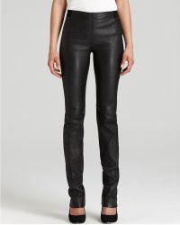 Halston Heritage Skinny Stretch Leather Pants - Lyst