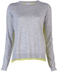 Mason by Michelle Mason Silk Back Sweater - Lyst