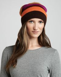 Michael Stars - Striped Slouch Hat - Lyst