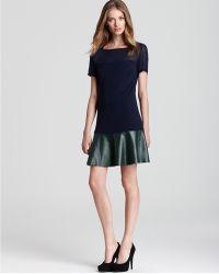 Sachin & Babi Leather Bottom Dress Robbie Short Sleeve - Lyst