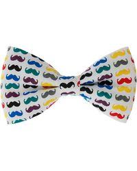 Topman Moustache Bow Tie multicolor - Lyst
