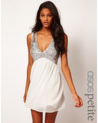 ASOS Collection Sequin Top Babydoll Dress - Lyst