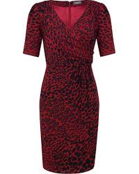 Alexon - Alexon Animal Print Front Dress Raspberry - Lyst