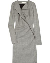 Antonio Berardi Asymmetric Stretch Wool Dress - Lyst