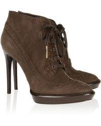 Burberry Prorsum - Leather Lace-up Platform Ankle Boots - Lyst