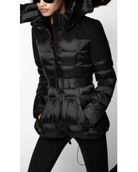 Burberry Sport - Contrast Panel Fur Trim Sport Puffer - Lyst