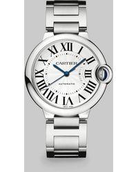 Cartier Ballon Bleu De Stainless Steel Watch - For Women silver - Lyst