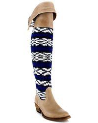 Cobra Society Zeus Over The Knee Boot blue - Lyst