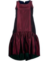 Kenzo Drop Waist Sleeveless Dress - Lyst