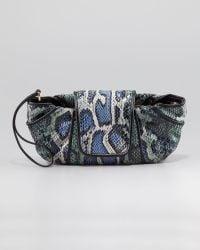Kooba - Snake Print Wristlet Cobalt - Lyst