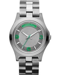 Marc By Marc Jacobs Womens Gunmetal Ion Plated Stainless Steel Bracelet 40mm - Lyst