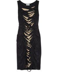 Moschino Bow Embellished Silk Dress - Lyst