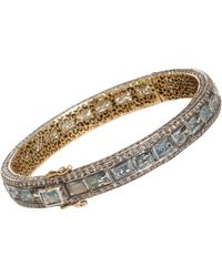 Munnu - Aquamarine Diamond Bangle - Lyst