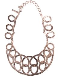 Oscar de la Renta Rose Gold Loop Necklace - Lyst