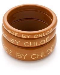 See By Chloé - Logo Bangles - Lyst