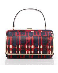 Tory Burch Plaid Leather Frame Bag - Lyst