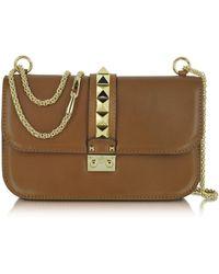 Valentino Rock Stud Leather Shoulder Bag - Lyst