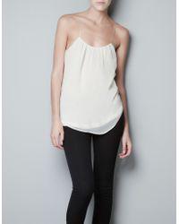 Zara Pleated Top - Lyst