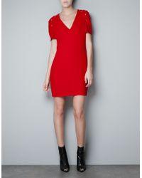 Zara Dress with Fantasy Puff Ball Sleeves - Lyst