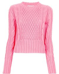 Acne Studios Lia Cable Sweater - Lyst