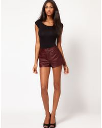 ASOS Collection Asos Leather Shorts - Lyst