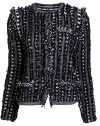 Chloé Lace Sleeve Sweater black - Lyst