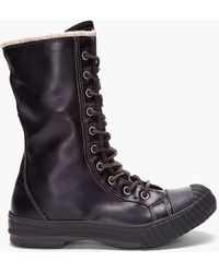 Converse - Black Leather Chuck Taylor All Star Boosey Boots - Lyst