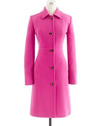 J.Crew Doublecloth Lady Day Coat with Thinsulate - Lyst